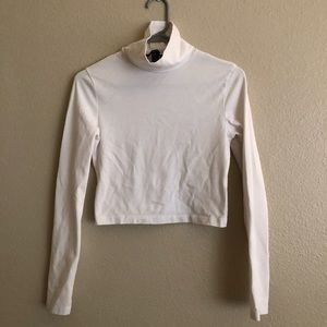 Fitted White Long sleeve turtleneck